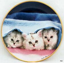 Peek-A-Boo Cat Collector 8 inch Porcelain Plate Franklin Mint Kiki Haynes Cats
