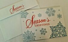 LOT (15) SEASON'S GREETINGS CHRISTMAS/HOLIDAY CARDS/ENV..PAPER MAGIC..EMBOSSED