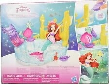 Disney Princess Ariel and Sparkling Lagoon Playset with slide and shell seat, in