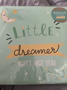 new Kate & Milo Little Dreamer Baby's First Year Memory Book, Baby Keepsake