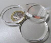 "1/4"" (.220"") Thick x 1.50"" (1 1/2"") Diameter Acrylic Circle Disc Clear 25 Pcs"