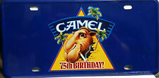 CAMEL Cigarettes Tobacco Aluminum 75th Birthday ! LICENSE PLATE Collectible 1997