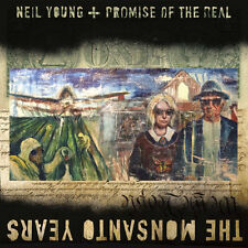 Neil Young Promise of The Real Monsanto Years CD 9 Track With Bonus DVD in Gat