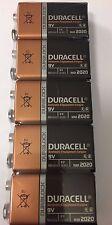 5 x 9V Duracell Duralock Batteries BLOCK MN1604 6LR61 PP3 Battery Alkaline UK