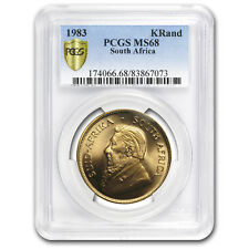 1983 South Africa 1 oz Gold Krugerrand MS-68 PCGS