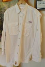 "Mens ""WORLD WIDE SPORTSMAN"" White longsleeved shirt  Large"