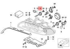 Genuine BMW E39 Sedan Wagon Adapter Headlight high beam OEM 63126904050