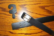 SAN GIORGIO Ladies leather belt BLACK NEW made in Italy XL