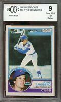 1983 o-pee-chee #83 RYNE SANDBERG chicago cubs rookie card BGS BCCG 9