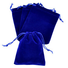 """lot of 25 50 100 Blue 3""""x 4"""" Jewelry Pouches Velvet Gift Bags Wedding Favors"""