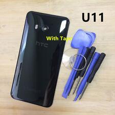 OEM Glass Battery Back Cover Door Camera Lens Housing For HTC U11 Black Tape