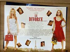 Le Divorce (2003) Starring Kate Hudson Naomi Watts Original UK Quad Film Poster