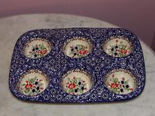 Polish Pottery UNIKAT Muffin Pan! Zoey Pattern!