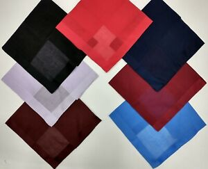 Swiss Cot Hndkchfs/Pocket Square Asstd Colors Hand Rolled Hem Ships Free, Nice !