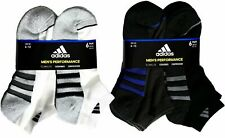 Adidas Men's Low-Cut Performance Socks Cushioned Athletic, 6 Pairs Variety
