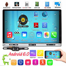 """Camera+Double 2DIN 7""""inch Android 6.0 Car DVD Player Stereo GPS Navi WiFi 3G BT"""
