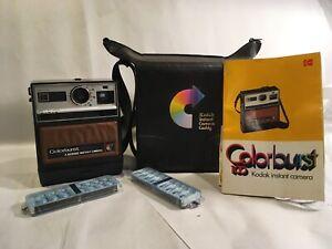 Kodak Colorburst 100 Instant Camera with Bag, Manual & 2 Flip-Flash II Bars