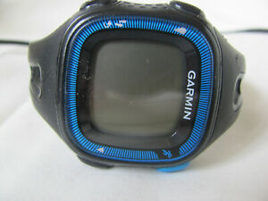 Garmin Forerunner 15 GPS Watch Black/Blue w/ Charger Pre-Owned - Broke Wristband