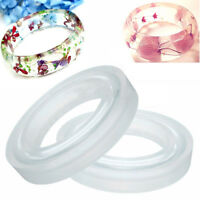 Round Silicone Mold Casting Mould For Resin Bangle Bracelet Jewelry DIY 2Sizes