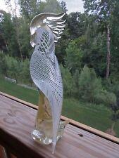 FORMIA VETRI Di MURANO Glass Cockatoo Parakeet BIRD Figurine Sculpture EXOTIC