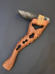 MASSIVE MARQUESAS ADZE WITH ANCIENT BLADE - NO RESERVE! Haft dates to the 1940's