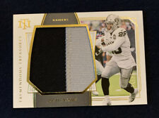 2019 National Treasures Josh Jacobs Prime Tremendous Game Used Jersey Patch #/25