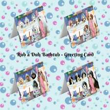 Rub a Dub Dogs Cats in a Tub Greeting Card, Pet Photo Lovers Invitation Card