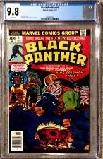 Black Panther #1 CGC 9.8 Marvel Comics 1/77 White Pages J. Kirby Story Newsstand
