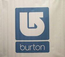 BURTON snowboard 2007 corp SQUARE banner BLUE ~NEW~!!