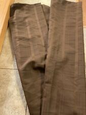 Brown Fabric Shower Curtain Gently Used