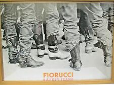 """ORIGINAL 1979 FIORUCCI NEW WAVE ITALIAN FASHION POSTER """" BOOTS """" SAFETY JEANS"""