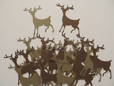 20 Reindeer Diecuts, 2 Shades Brown, Christmas Scrapbooks, Cards, Other Crafts