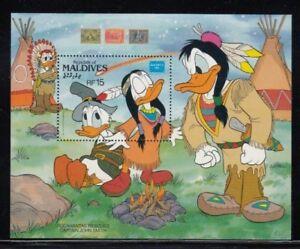 MALDIVES Pocahontas Rescues John Smith (Donald Duck & Pals) MNH souvenir sheet