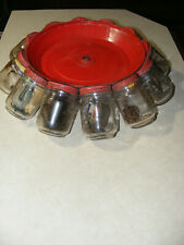 Machine industrial Age Parts Nuts & Bolt 12 glass Jar Organizer