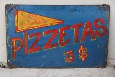 Vintage Hand Painted Sign - Pizettas- Cuba circa 1980