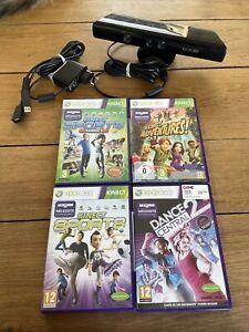 Accessoire Microsoft Xbox 360 - Caméra Kinect + 3 Jeux + Alimentation Teste TBE