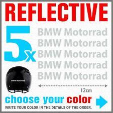 5x BMW Motorrad White REFLECTIVE ADESIVI PEGATINA R1200 R1150 F800 F650 F700 GS