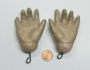 Antique Composition Pair of Doll Hands only (Doll Parts)
