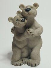 "Quarry Critters Bear Hugs 5"" Figurine Second Nature Design Polar Bears"
