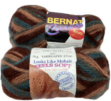 New listing 2 Skeins/Balls Of (Discontinued) Bernat Caress Yarn~Color #6200 Orient Express