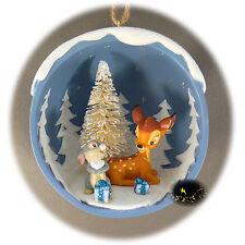 Disneyland Paris - Bambi & Thumper - Christmas Ornament - Map of the 2 Parks