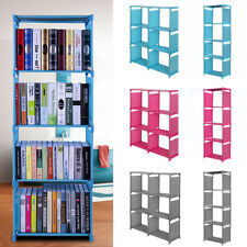 3,4 Tiers Bookshelf Bookcase Home Shelves Bedroom Storage Solution Display Unit~