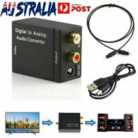 Digital Optical Coax Coaxial Toslink to Analog RCA L/R Audio Converter Adaptor