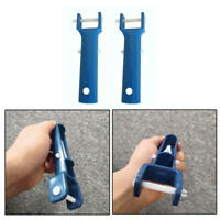 Swimming Pool Spa Vacuum Head Handle Replacement w/ V-Clip & Pin BLUE