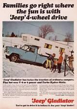 1966 Vintage ad Jeep Gladiator 4 wheel drive Campimg Color Ski