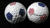 """10 CALLAWAY  """"CHROME SOFT"""" - """"BLUE TRUVIS with EURO + USA FLAG"""" - """"MINT/PEARL"""""""
