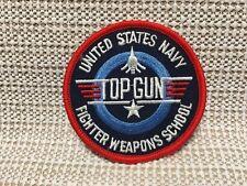"""US NAVY FIGHTER WEAPONS SCHOOL """"TOP GUN"""" PATCH"""