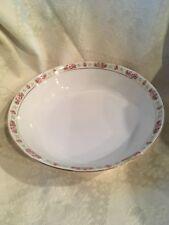 """Vintage 9 1/8"""" Round Vegetable Dish With Gold Trim Bristol Austria Fine China"""