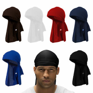 Men's Durag Bandana - Breathable Close Fit Tie Down Sport Du Rag Head Scarf Wrap