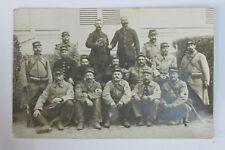 GUERRE WW1 4 CARTE POSTALE GROUPES SOLDATS MILITAIRES UNIFORMES RÉGIMENTS